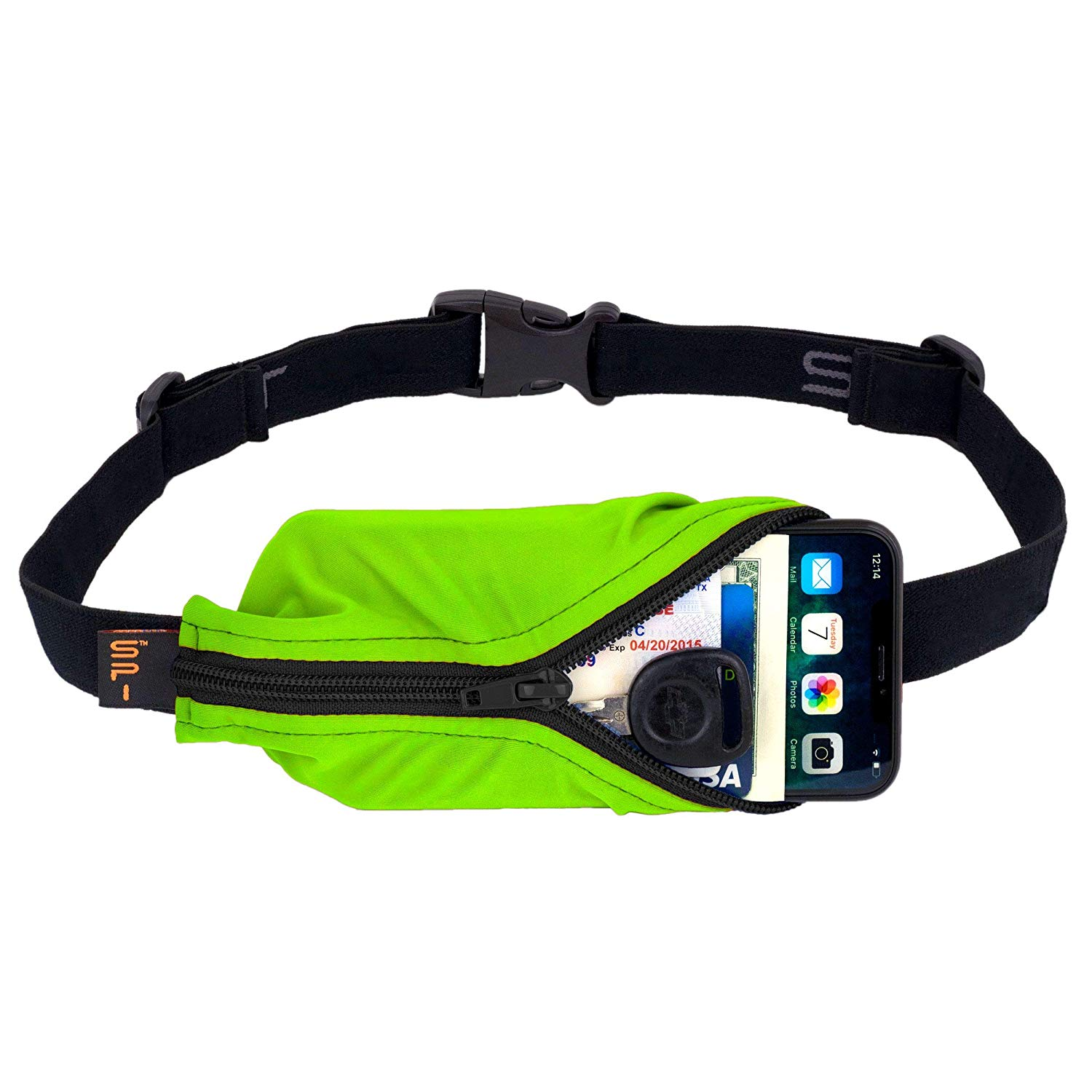 SPIbelt Running Belt green