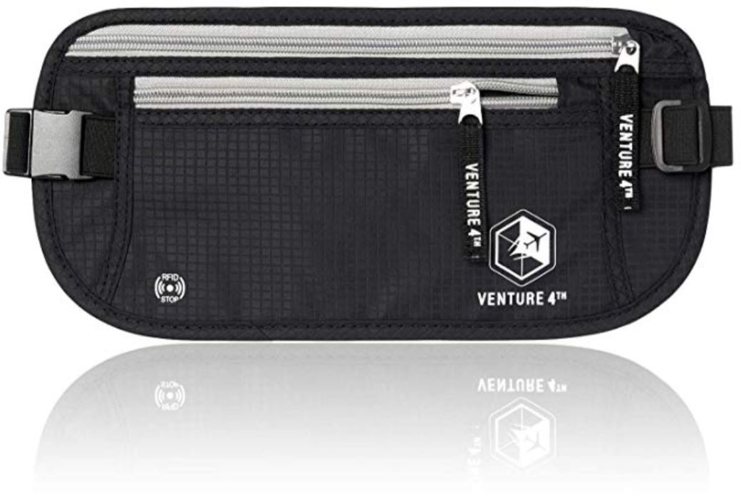VENTURE 4TH RFID Safe Money Belt Front