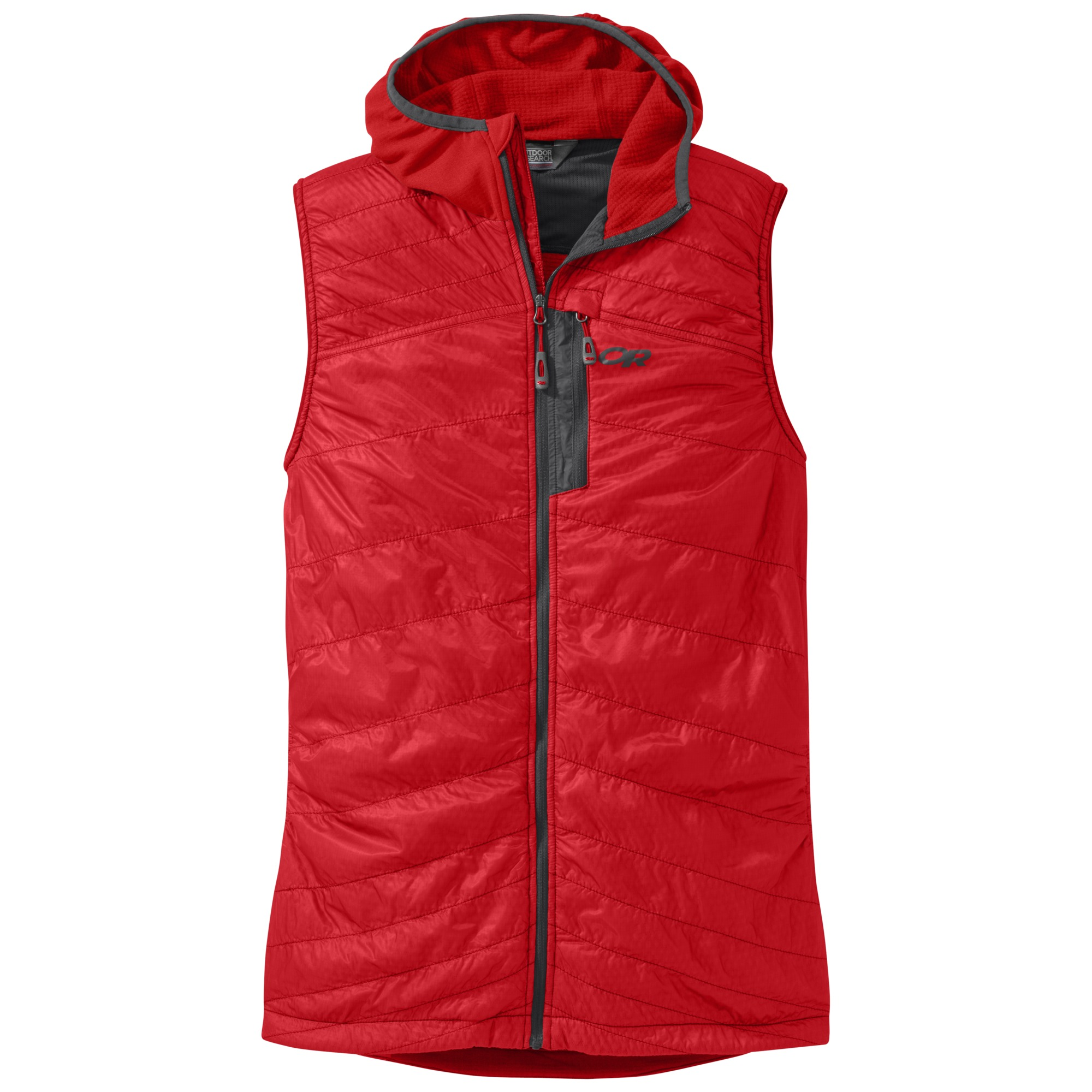 Outdoor Research Deviator Hooded Vest Red