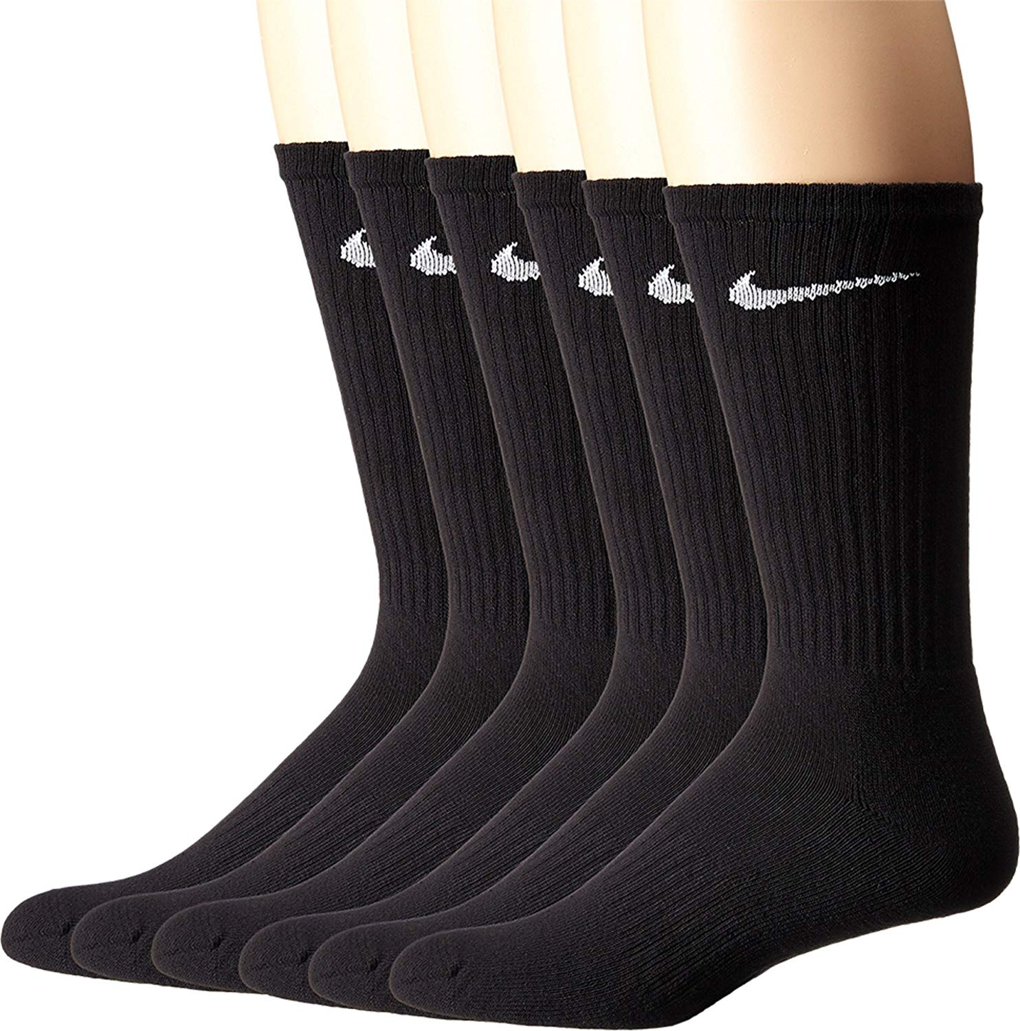 Nike sells their Performance Cushion Crew Socks in packs of six so you can wear a pair almost every day of the week..
