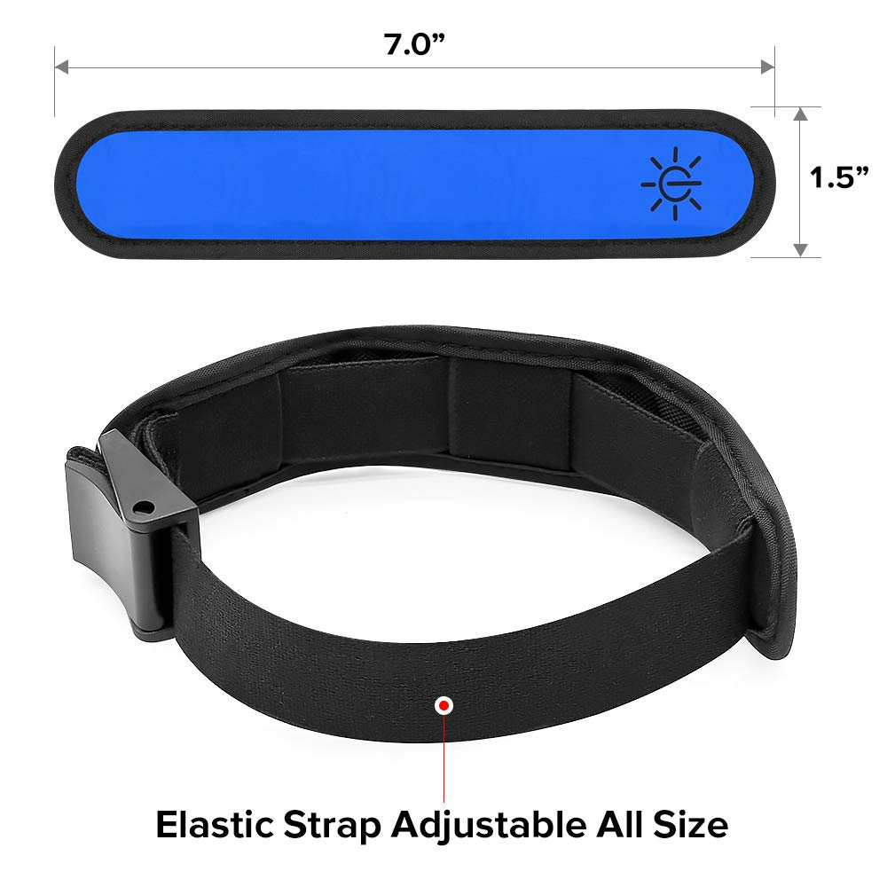 Ezer LED Armbands blue