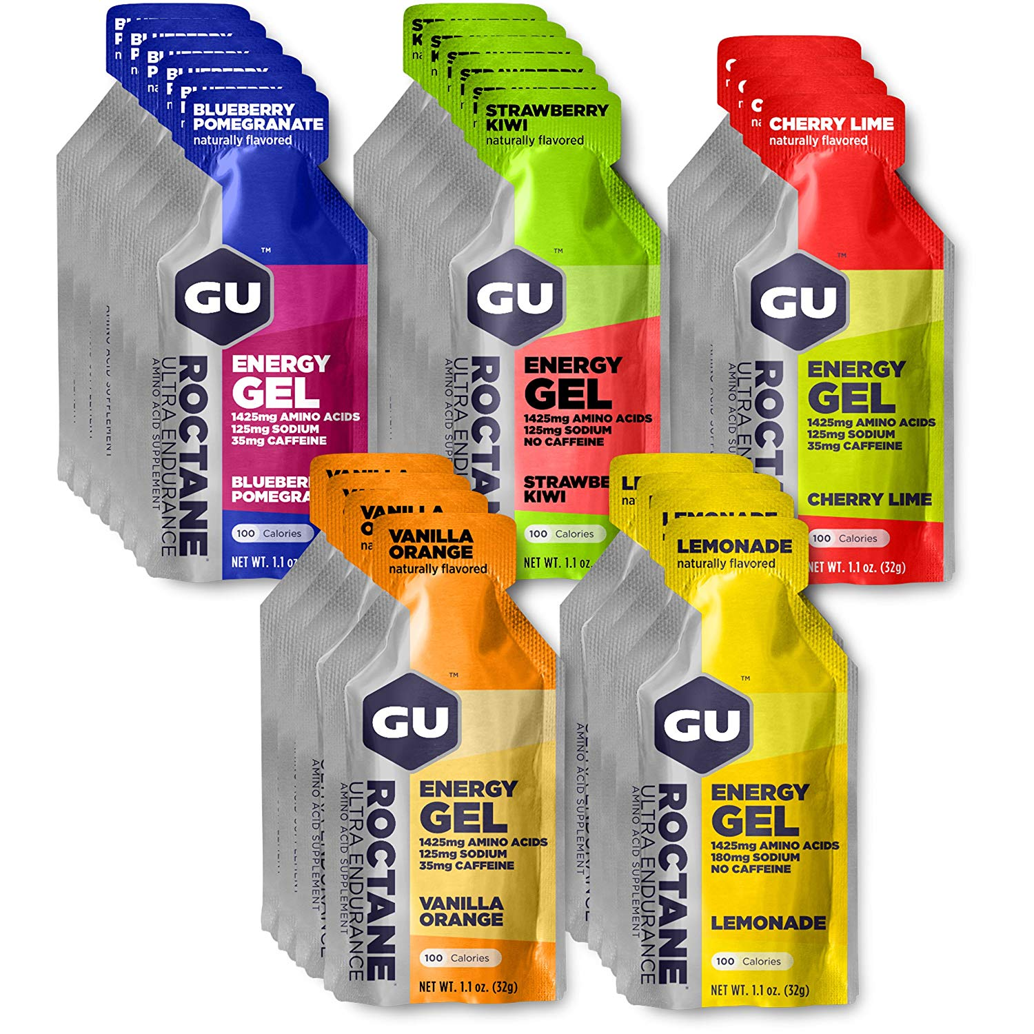 GU Energy Roctane Gel variety