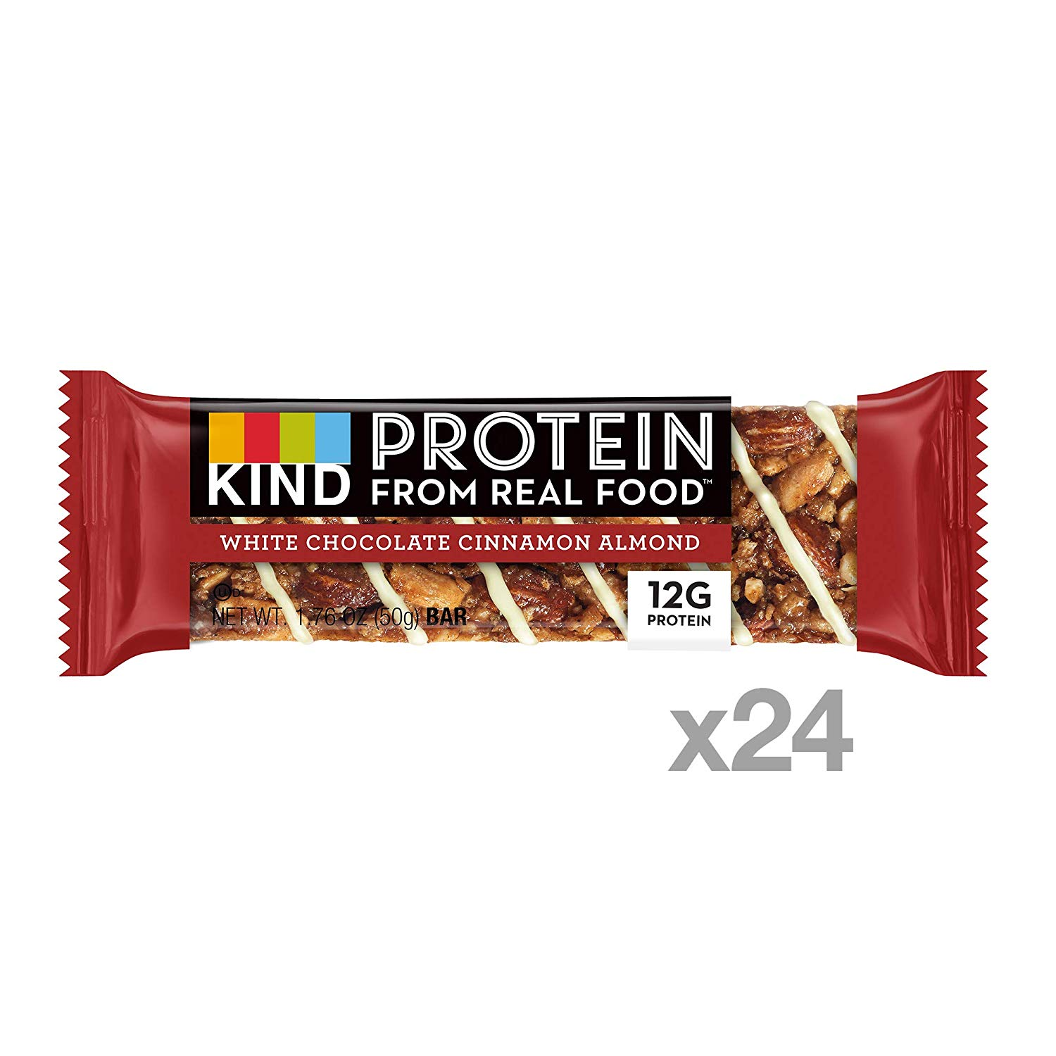 KIND Energy Protein Bars white chocolate cinnamon almond