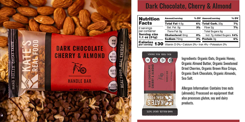 Kate's Real Food Granola Bars cherry almond