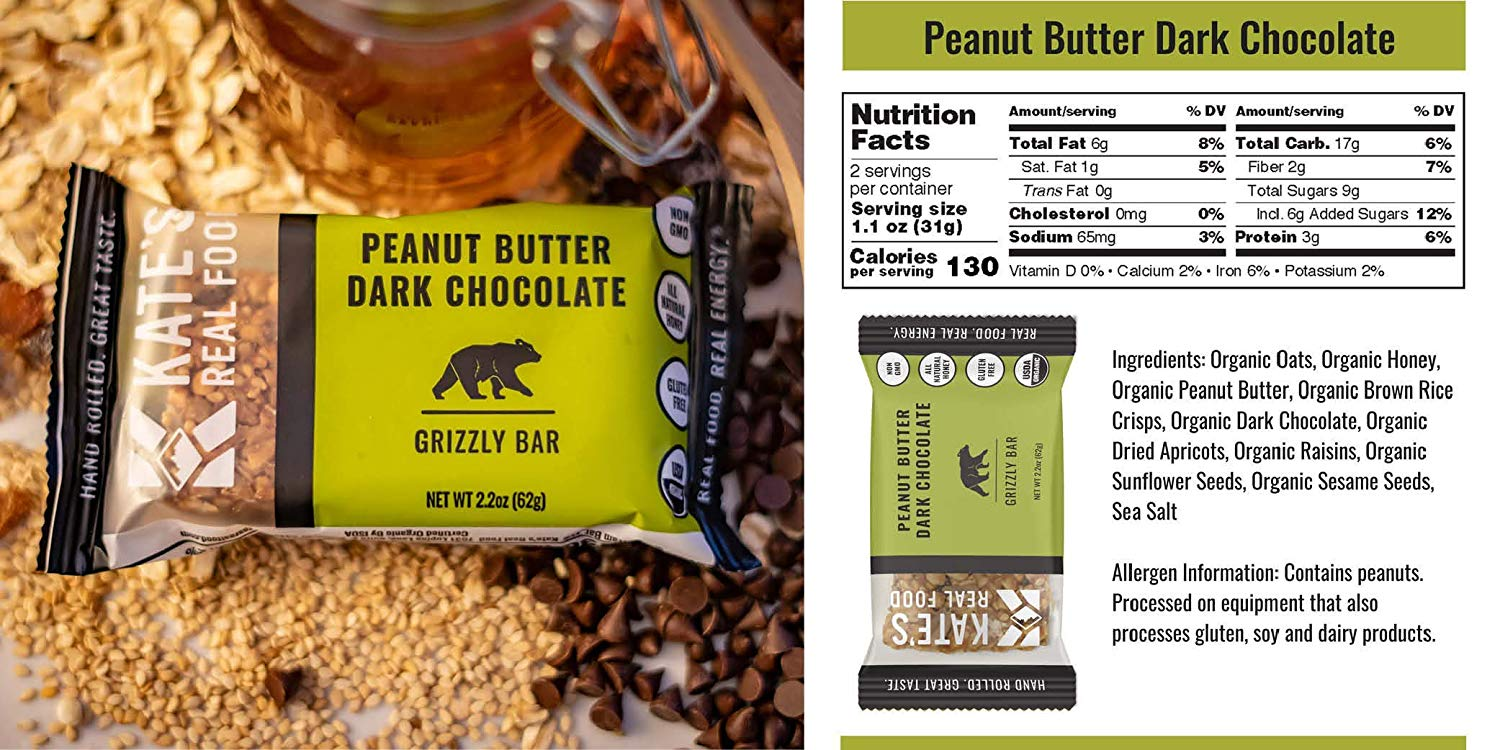 Kate's Real Food Granola Bars peanut butter chocolate