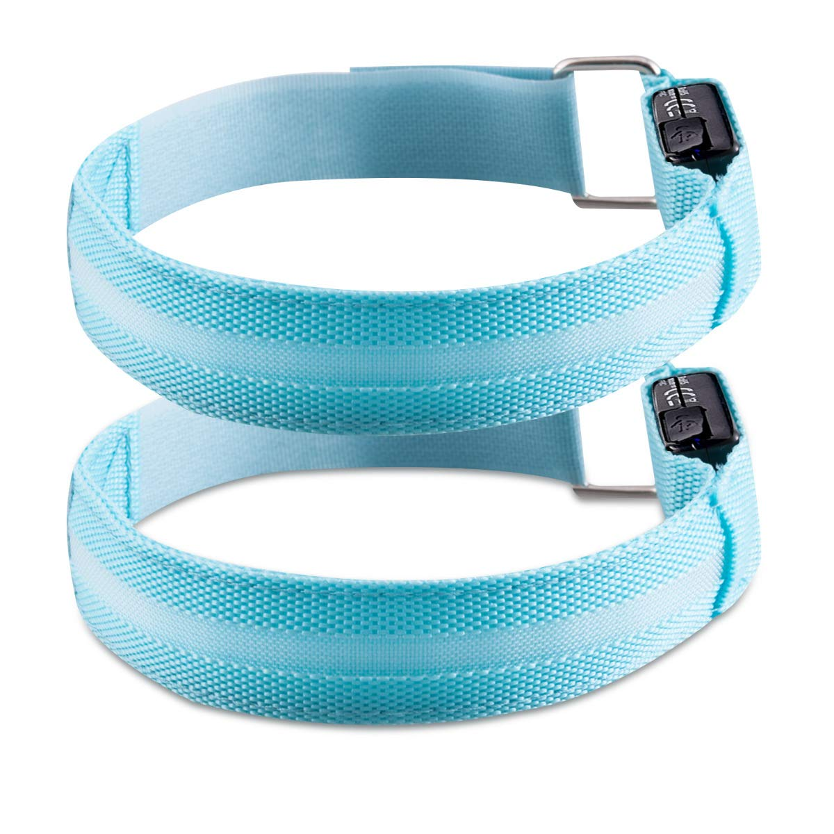 Kwmobile 2X LED Safety Bands blue