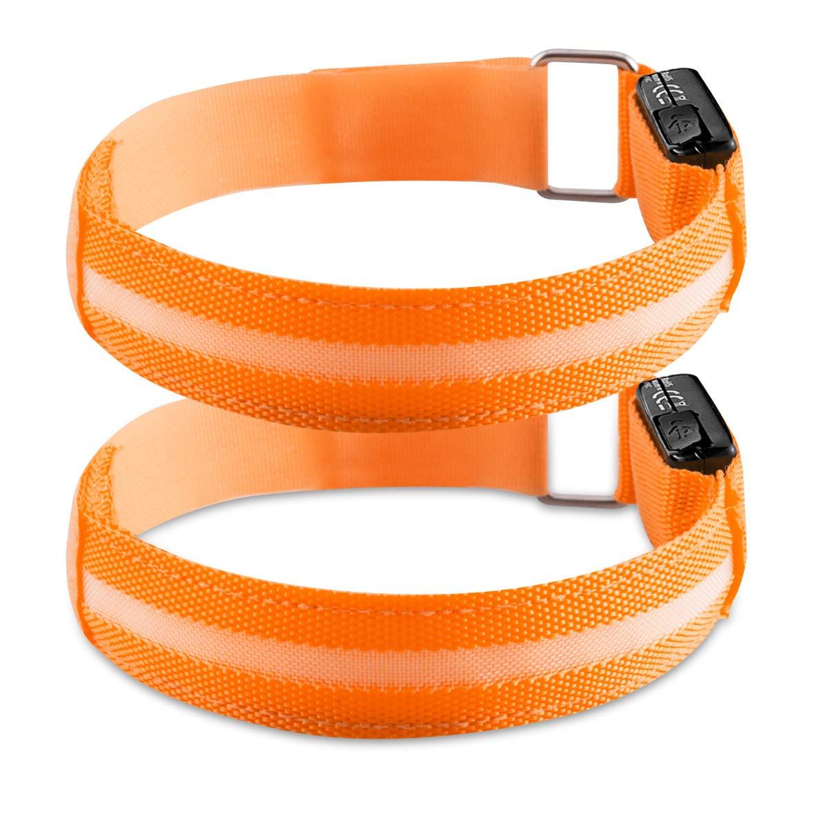 Kwmobile 2X LED Safety Bands orange