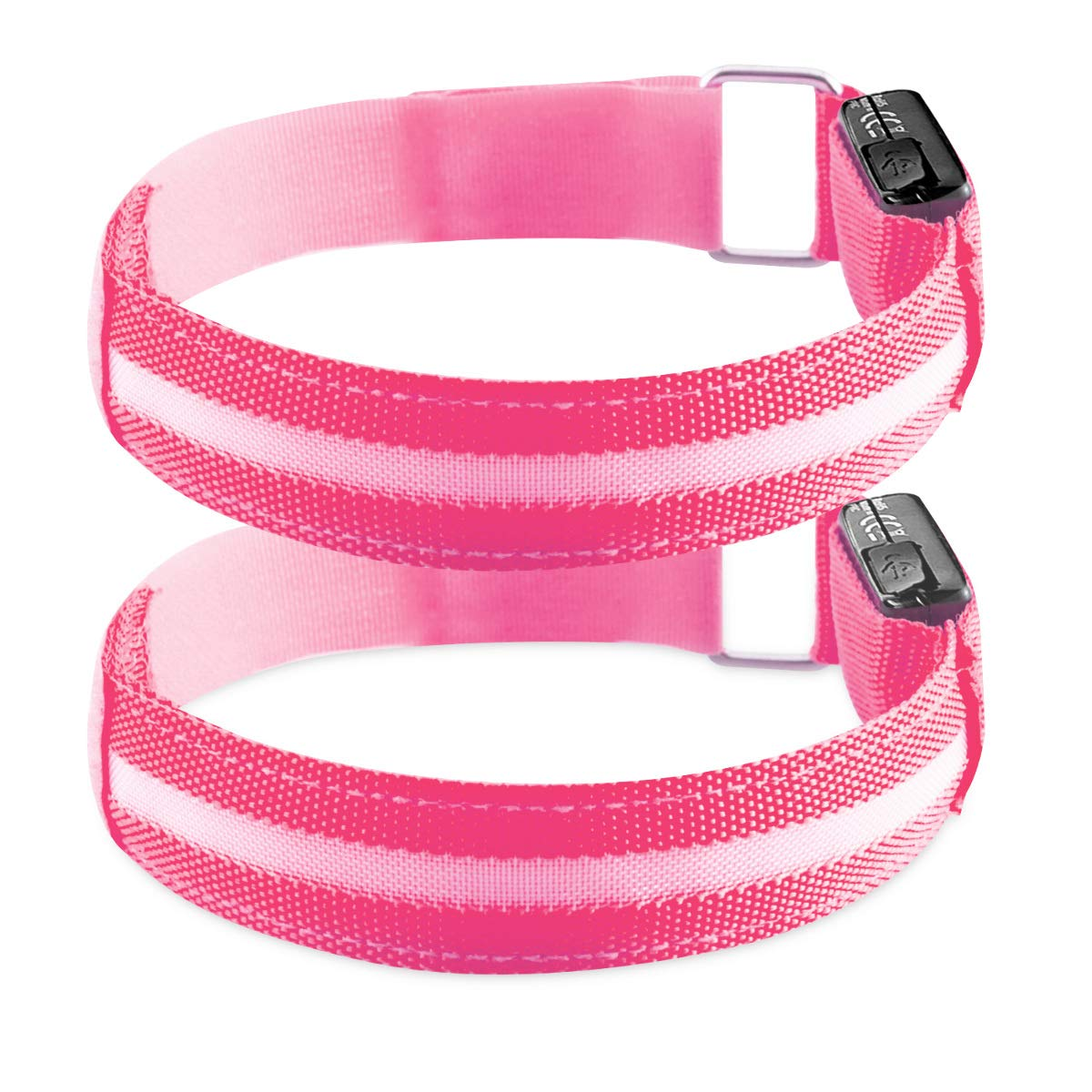Kwmobile 2X LED Safety Bands pink