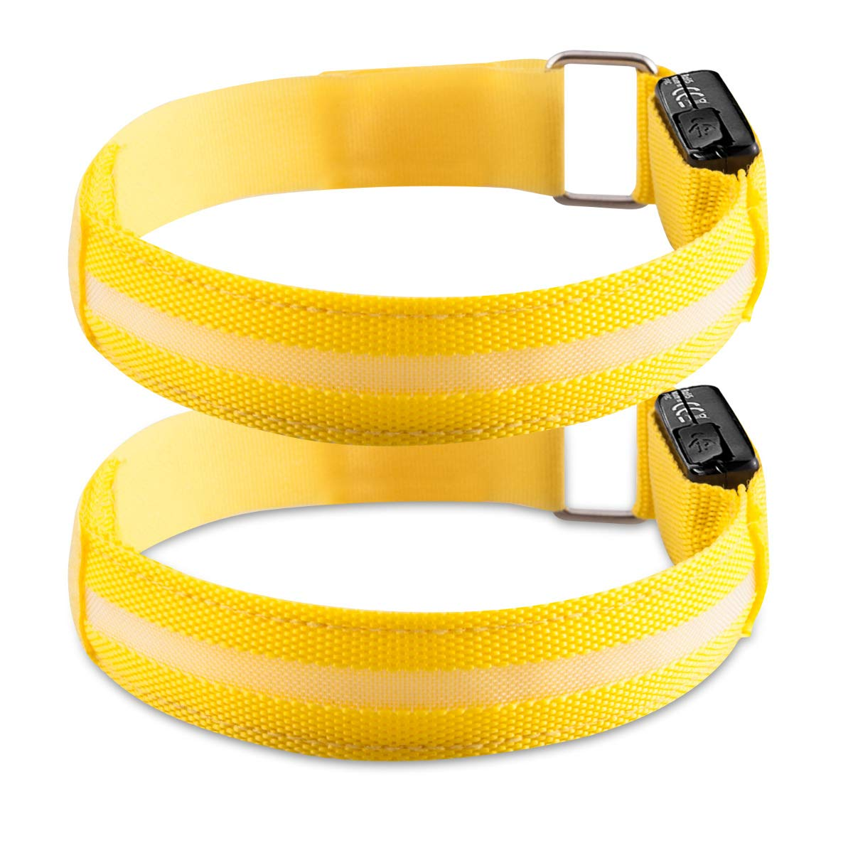 Kwmobile 2X LED Safety Bands yellow