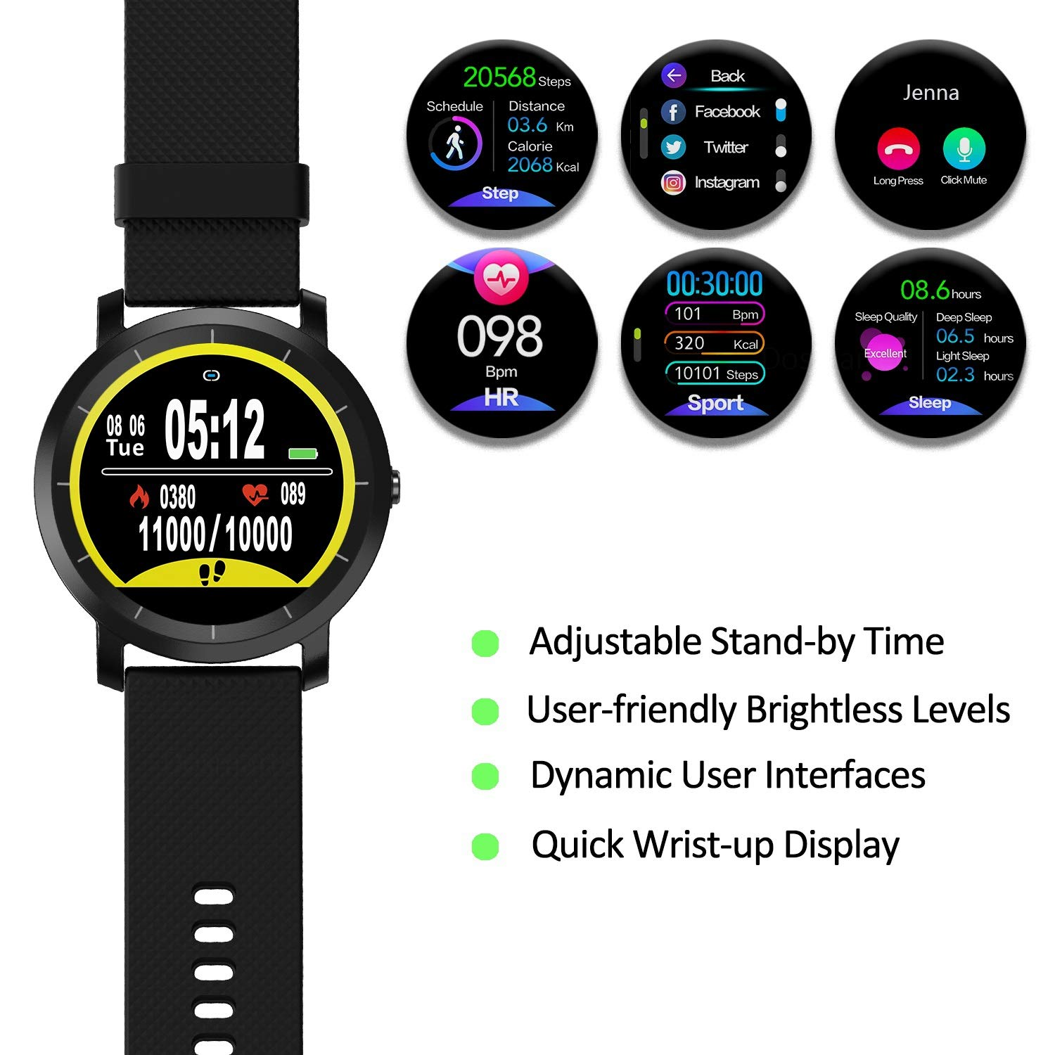 DoSmarter Smart Watch with Connected GPS features