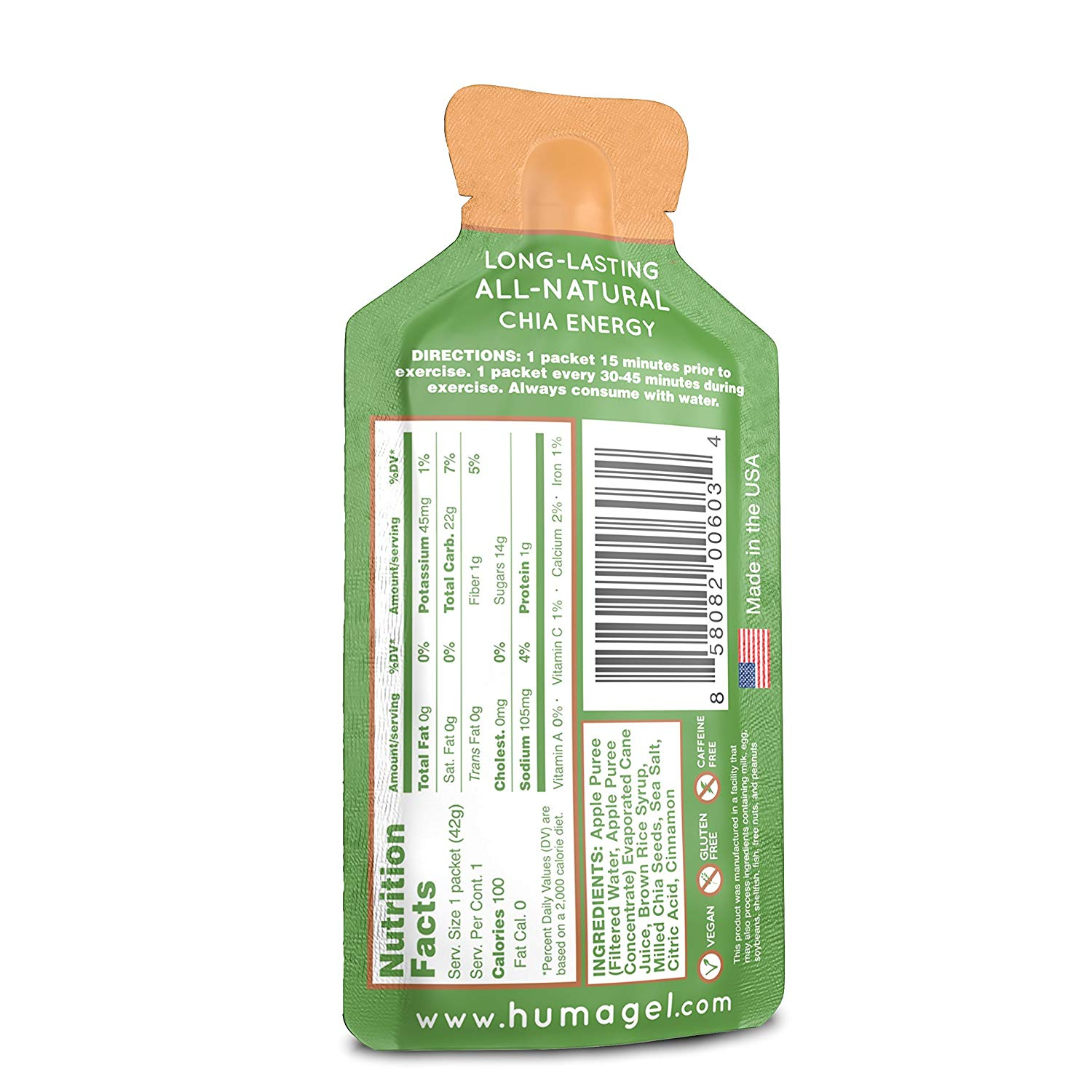 Huma Chia Energy Gel back
