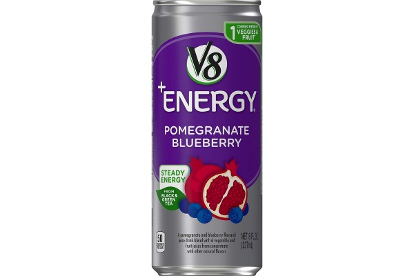 the delicious and reliable V8 +Energy Drink