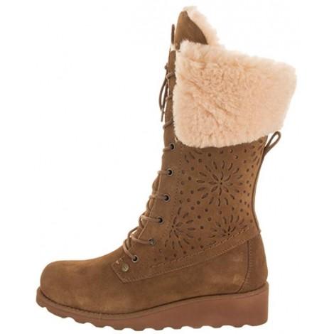 Bearpaw Kylie Best Tan Boots light brown & tan boots side view