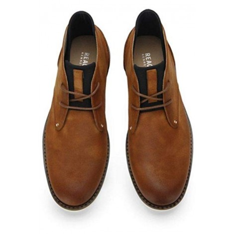 Kenneth Cole Casino Chukka light brown & tan boots top view