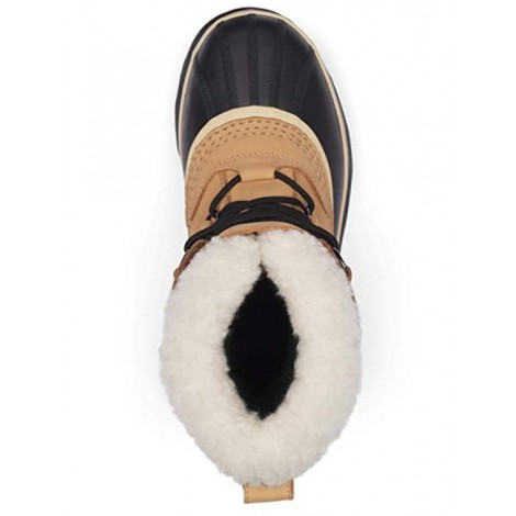 Sorel Caribou light brown & tan boots top view