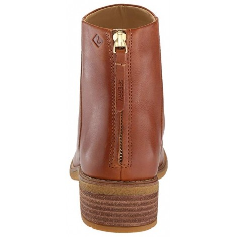 Sperry Maya Belle light brown & tan boots back view