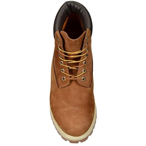 Timberland 6 Inch Premium light brown & tan boots top view