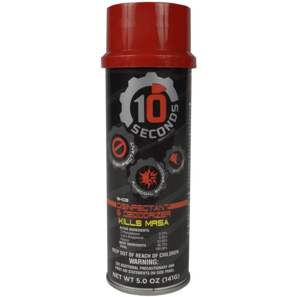 10-Seconds Shoe Deodorizer spray in the shoe and not on skin this is fast acting and highly effective for maintaining odor free footwear