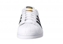 A front look at the Adidas Superstar sneaker.