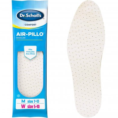 Dr. Scholl's Air Pillo Insoles for sure support and healthy foot hygiene