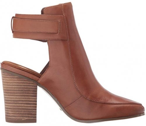 Aerosoles Square Up light brown & tan boots side view