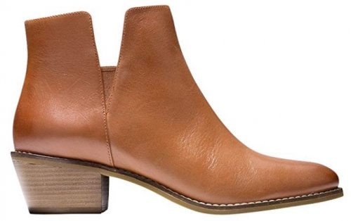 Cole Haan Abbot light brown & tan boots side view