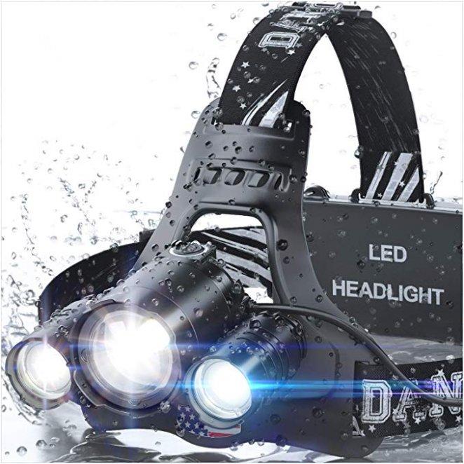 DanForce Brightest waterproof Headlamp