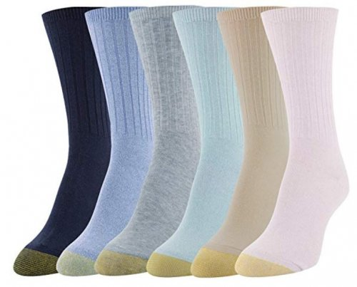 Gold Toe Casual Ribbed Best Crew Socks