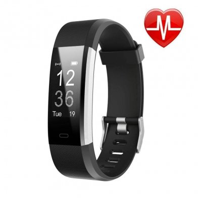 LETSCOM Fitness Tracker black for accurate fitness data