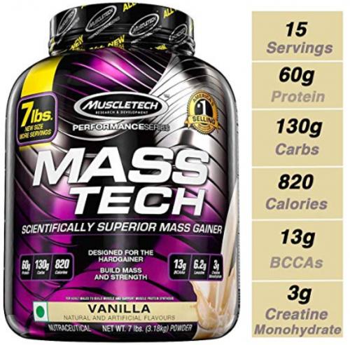 MuscleTech mass tech-Best-Mass-Gainers-Reviewed
