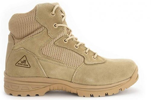Ryno Gear Tactical light brown & tan boots side view