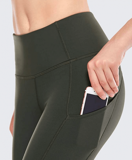 CRZ YOGA High Waisted Yoga Pants with Pockets Detail