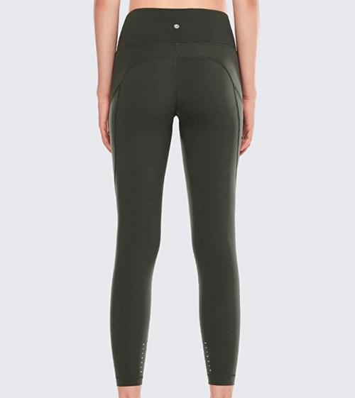 CRZ YOGA High Waisted Yoga Pants with Pockets Back