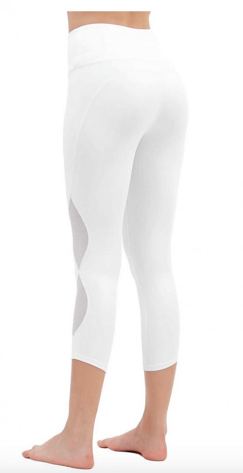 DIELUSA High Waisted Yoga Pants Workout Leggings Back