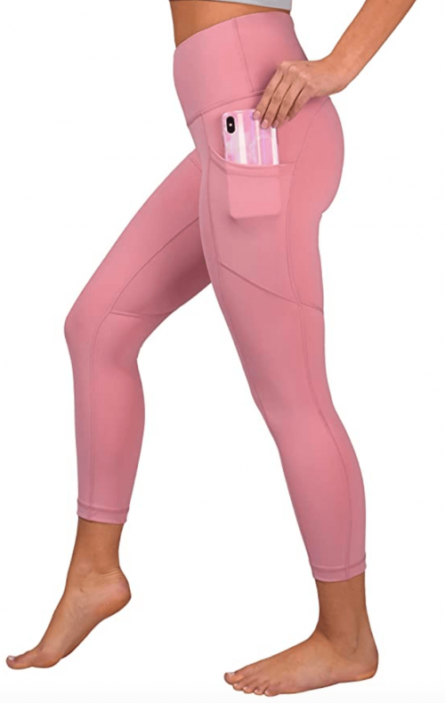 90 Degree By Reflex Capri Leggings with Side Pockets