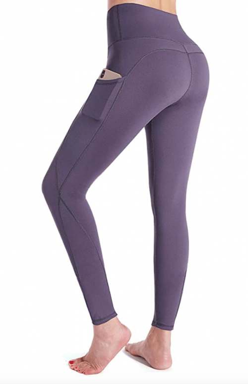 G4Free High Waist Yoga Pants with Pockets Back