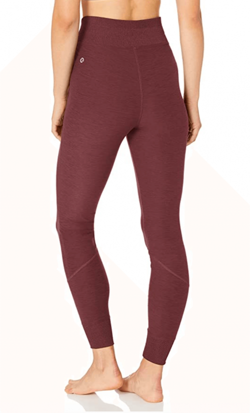 Amazon Brand - Core 10 Women's Cozy Yoga High Waist Legging with Pockets  Back