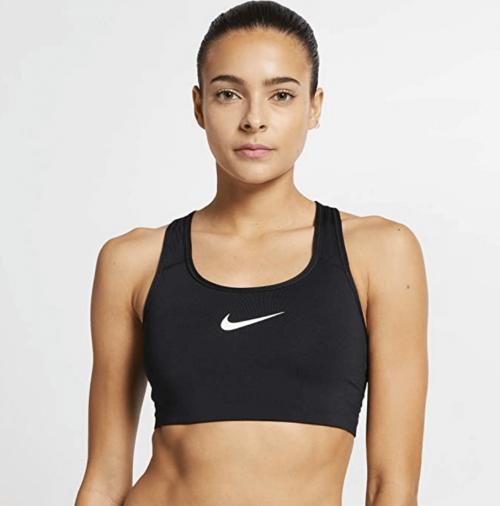 Nike Pro Classic Swoosh Bra on model