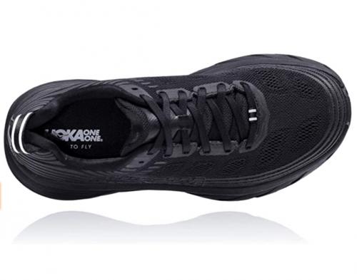 HOKA ONE ONE Womens Bondi 6 Running Shoe laces