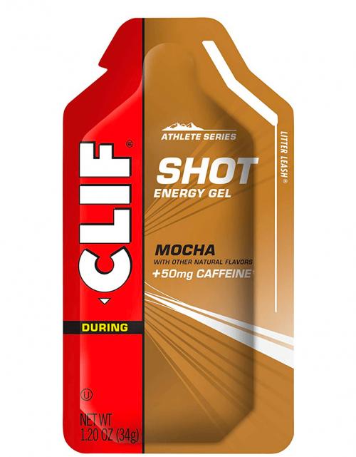 CLIF SHOT – Energy Gels – Mocha Flavor – 50 mg Caffeine