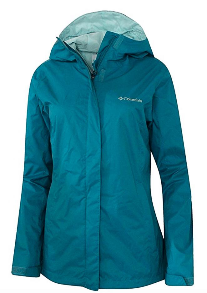 Columbia Women's Timber Pointe Omni Tech Rain Hooded Waterproof Jacket