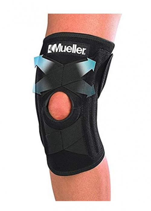 Mueller Self Adjusting Knee Stabilizer, Black, One Size Fits Most 2