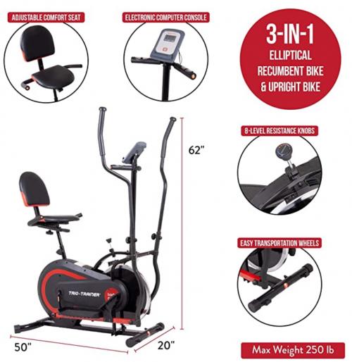 Body Power 3-in-1 Exercise Machine specs 2