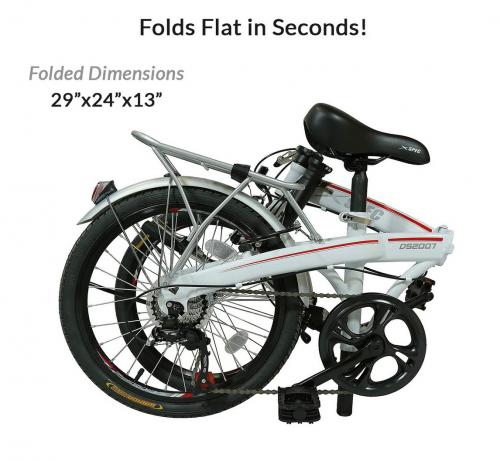 "Xspec 20"" 7 Speed City Folding Compact Bike Bicycle Urban Commuter 2"