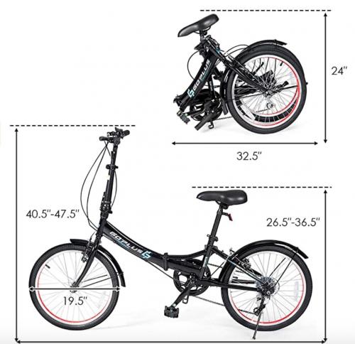 "Goplus 20"" Folding Bike 2"