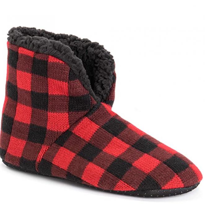 MUK LUKS Men's Slipper Booties Sock