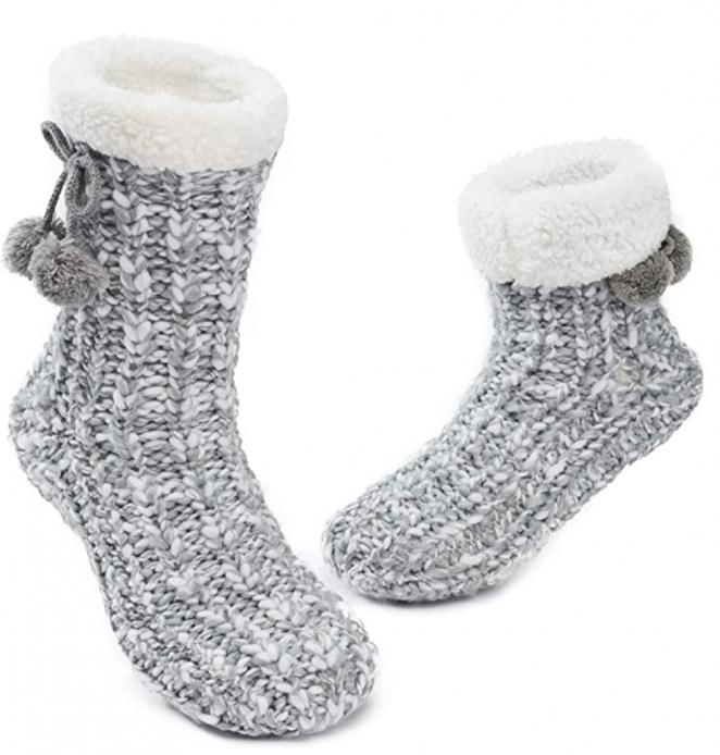 MaaMgic Womens Warm Fuzzy Slipper Socks Winter Girls Cozy Funny Grip Socks