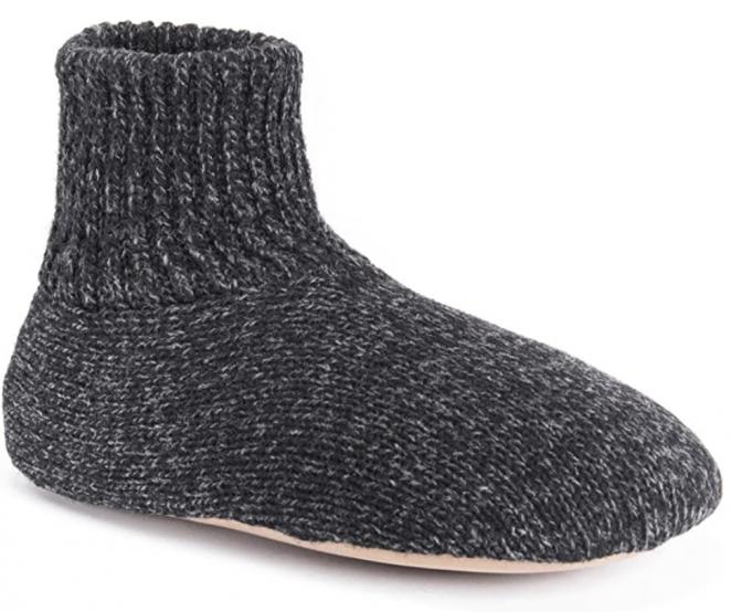 MUK LUKS Men's Morty Ragg Wool Slipper Sock