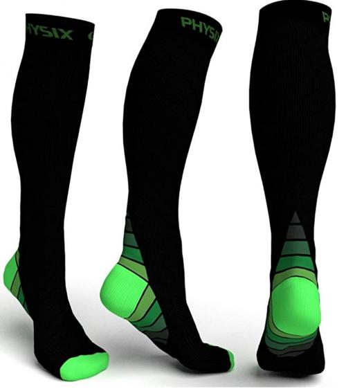 Physix Gear Sport Compression Socks for Men & Women