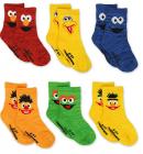 Sesame Street Elmo Multi Pack Crew Socks with Grippers